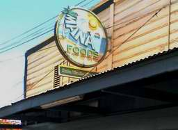 MANA FOODS on Baldwin Avenue Paia Maui, famous health food store/hangout for hippies on Maui, with salad bar and deli, fresh bakery items