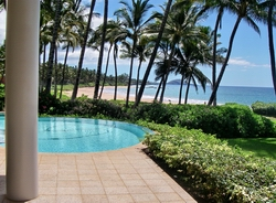 Wailea Maui home and pool, beachfront home in Wailea Maui