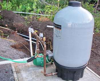 off grid water tank system, pressure tank