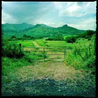 hana ranch gate, Hana Maui Hawaii